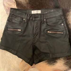 Black Waxed Shorts